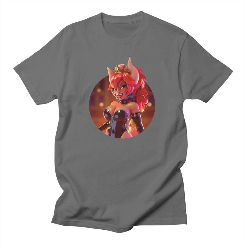 Bowsette (latex) Men's T-Shirt by Andrew Hickinbottom's Artist Shop