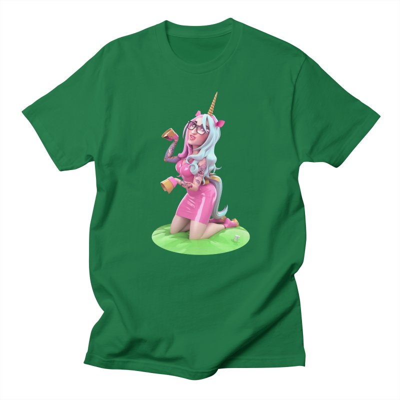 Cara Unicorn Men's T-Shirt by Andrew Hickinbottom's Artist Shop