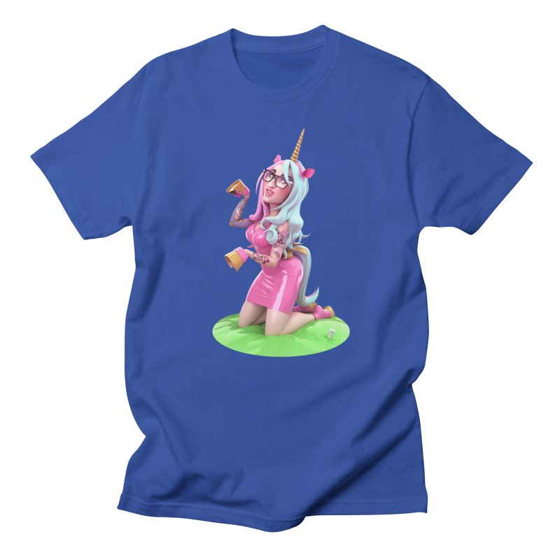 Cara Unicorn Men's Regular T-Shirt by Andrew Hickinbottom's Artist Shop