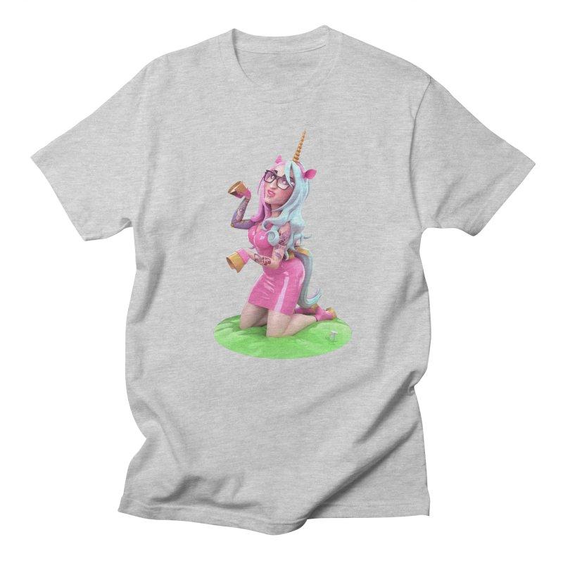Cara Unicorn Men's T-Shirt by Andrew Hickinbottom's Artist Shop