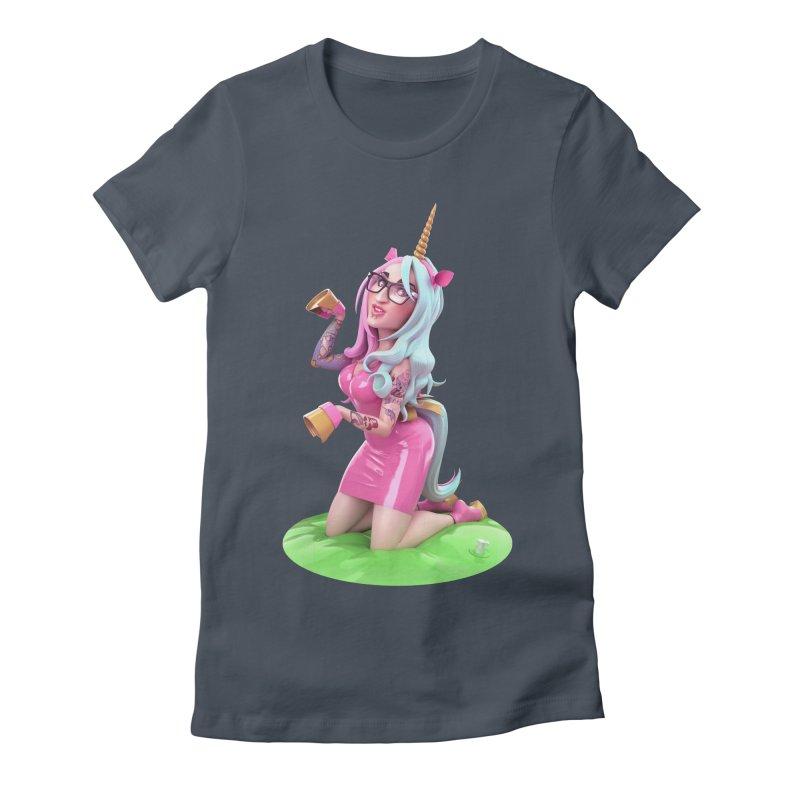 Cara Unicorn Women's T-Shirt by Andrew Hickinbottom's Artist Shop
