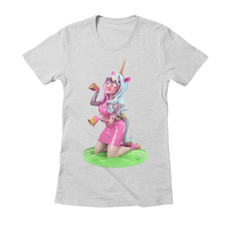 Cara Unicorn Women's Fitted T-Shirt by Andrew Hickinbottom's Artist Shop