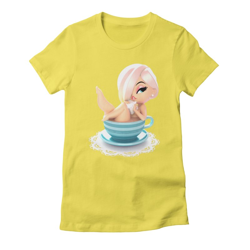 One Lump Or Two? Women's Fitted T-Shirt by Andrew Hickinbottom's Artist Shop