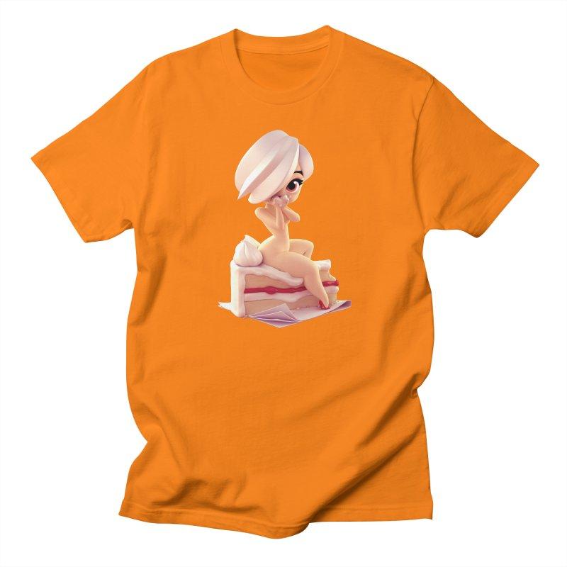 Sweet Cheeks Vicky Men's Regular T-Shirt by Andrew Hickinbottom's Artist Shop