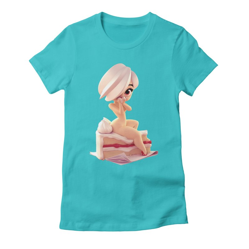 Sweet Cheeks Vicky Women's Fitted T-Shirt by Andrew Hickinbottom's Artist Shop