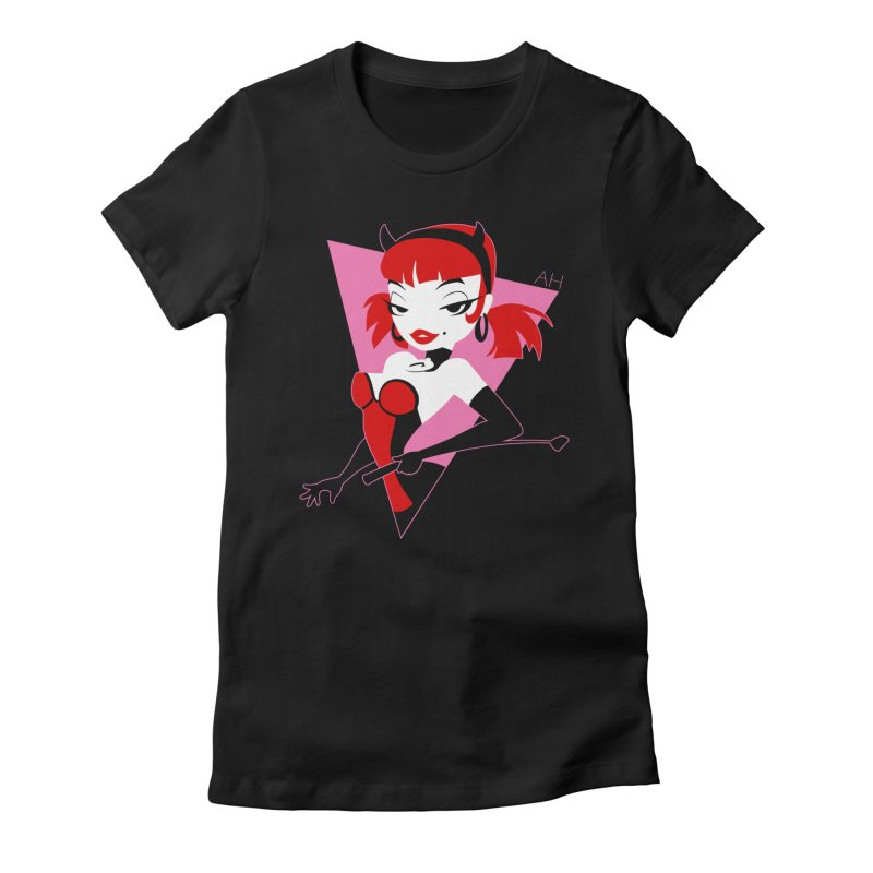 Trixie logo Women's Fitted T-Shirt by Andrew Hickinbottom's Artist Shop