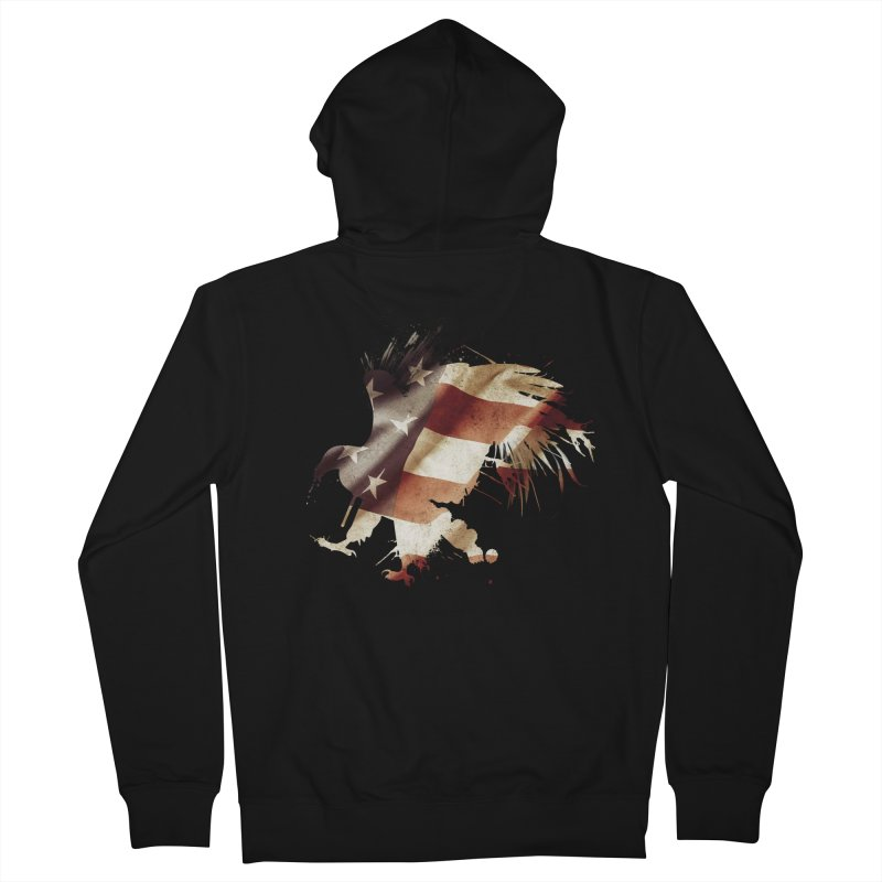 Bald Eagle Women's Zip-Up Hoody by andrewkaiser's Artist Shop