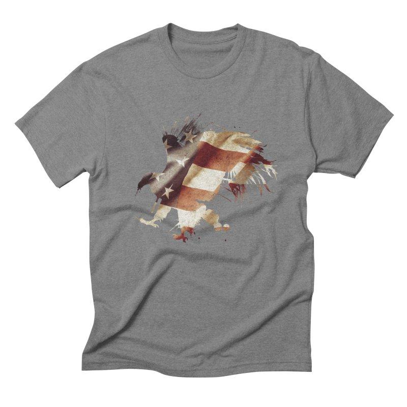 Bald Eagle Men's Triblend T-Shirt by andrewkaiser's Artist Shop