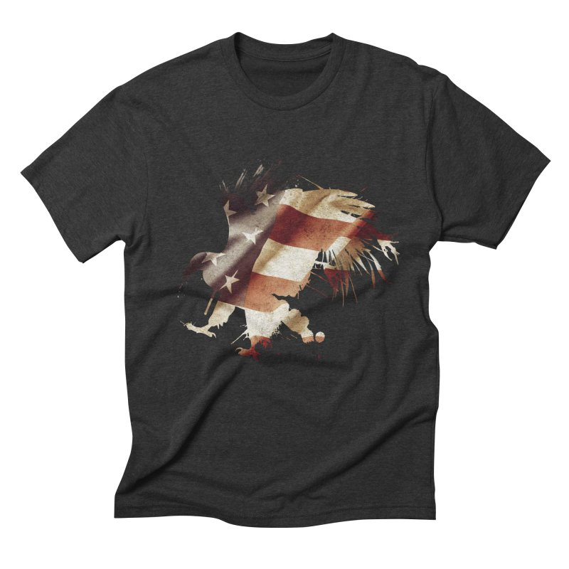 Bald Eagle Men's Triblend T-shirt by andrewkaiser's Artist Shop