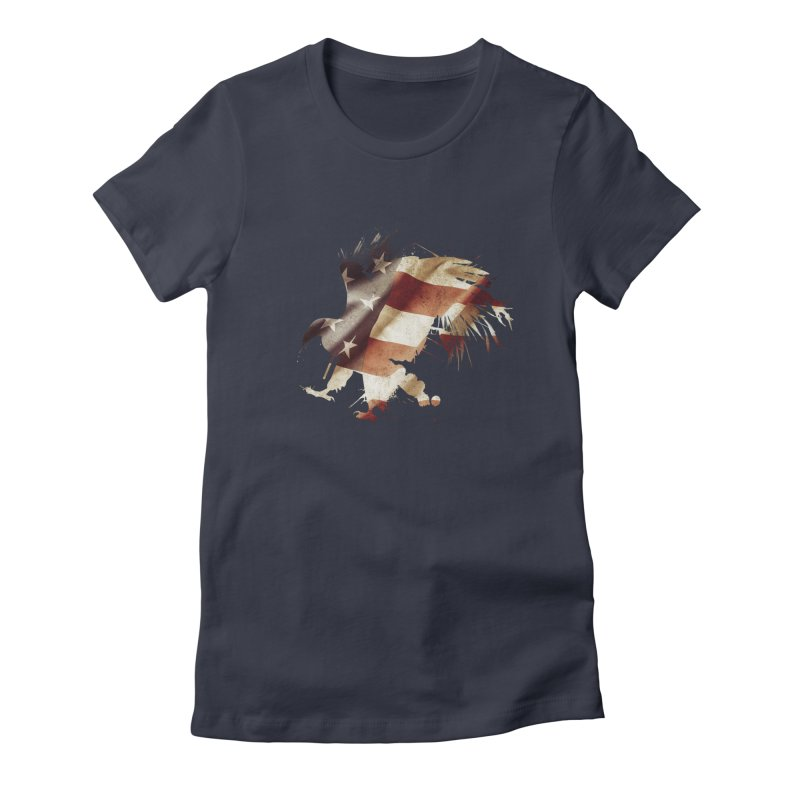 Bald Eagle Women's Fitted T-Shirt by andrewkaiser's Artist Shop