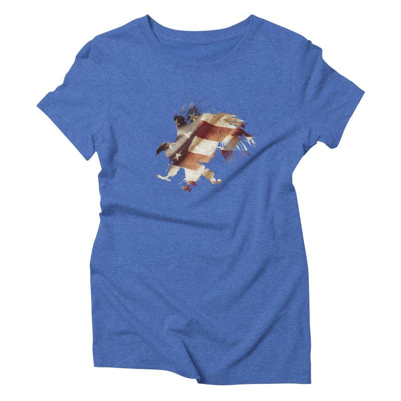 Bald Eagle Women's Triblend T-Shirt by andrewkaiser's Artist Shop