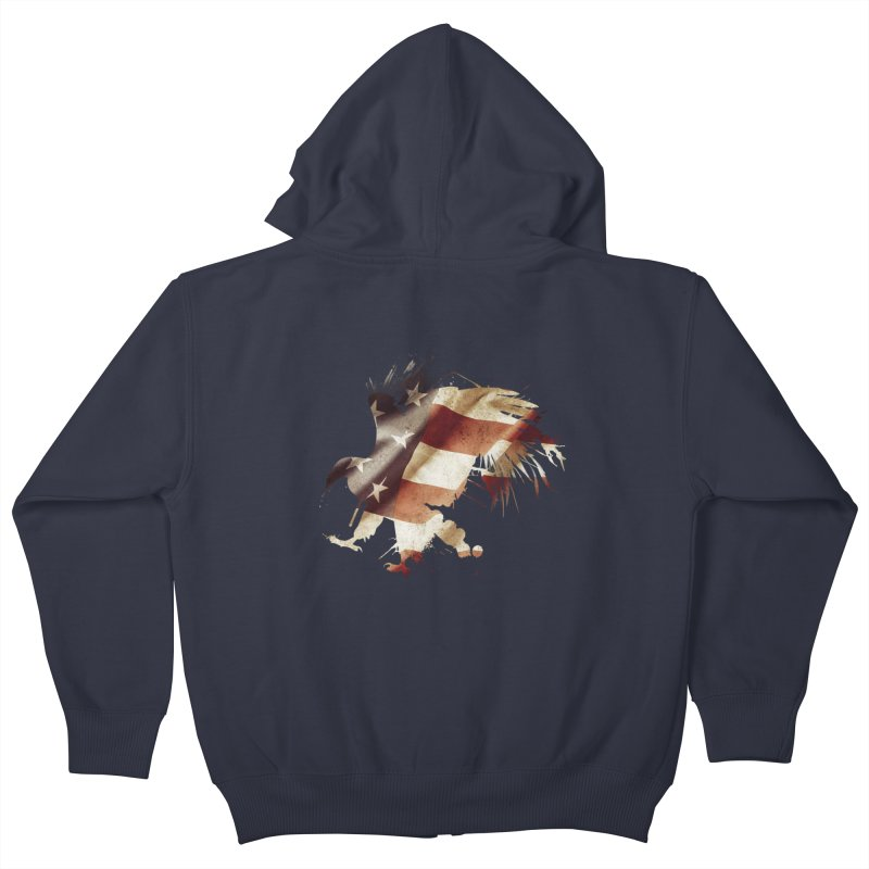 Bald Eagle Kids Zip-Up Hoody by andrewkaiser's Artist Shop