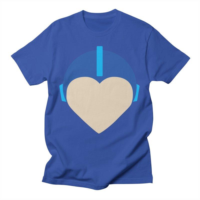 I Heart Megaman Men's T-Shirt by andrewkaiser's Artist Shop