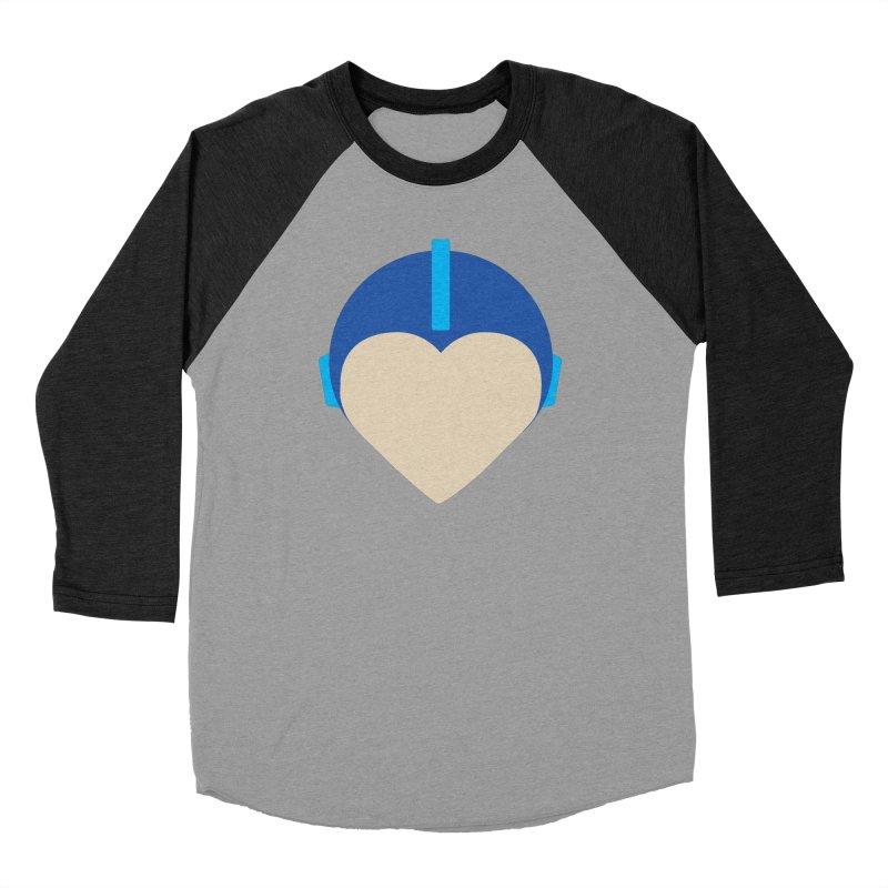 I Heart Megaman Men's Longsleeve T-Shirt by andrewkaiser's Artist Shop