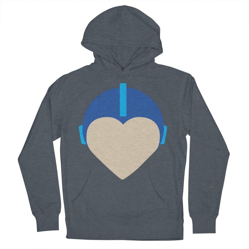 I Heart Megaman Men's Pullover Hoody by andrewkaiser's Artist Shop