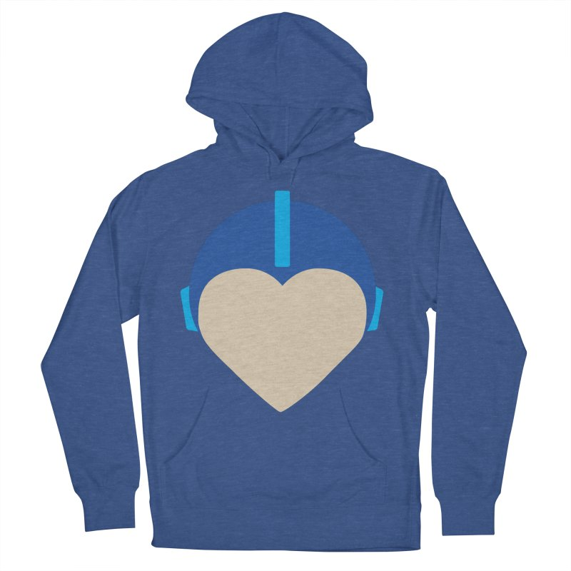 I Heart Megaman Men's French Terry Pullover Hoody by andrewkaiser's Artist Shop