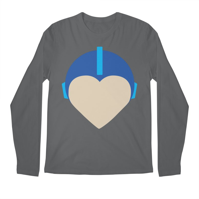 I Heart Megaman Men's Longsleeve T-Shirt by andrewkaiser's Artist Shop