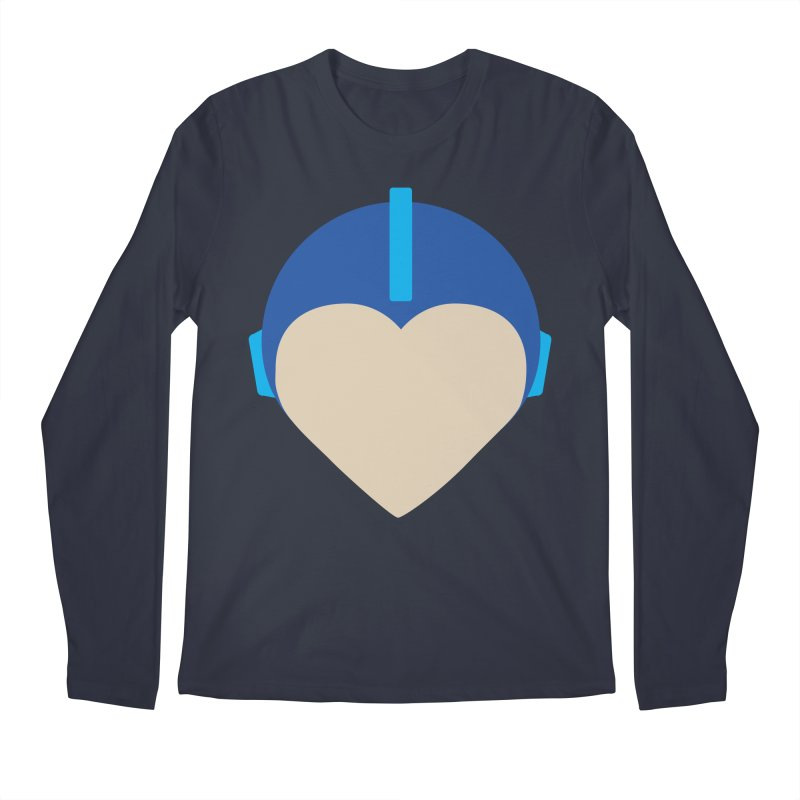 I Heart Megaman Men's Regular Longsleeve T-Shirt by andrewkaiser's Artist Shop
