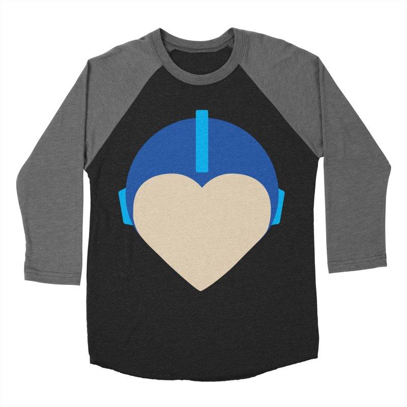 I Heart Megaman Women's Baseball Triblend Longsleeve T-Shirt by andrewkaiser's Artist Shop