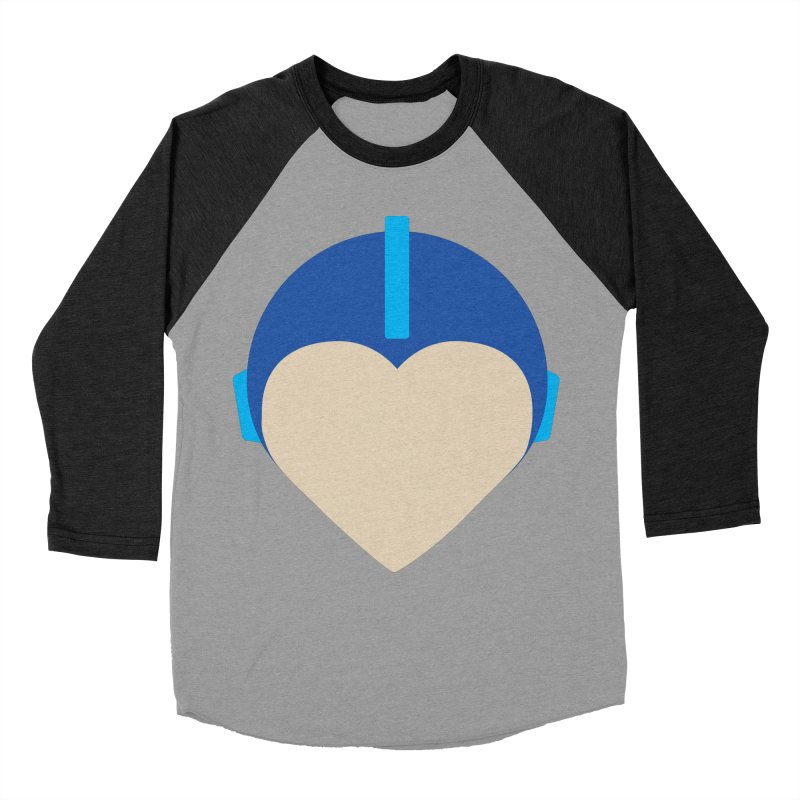 I Heart Megaman Men's Baseball Triblend Longsleeve T-Shirt by andrewkaiser's Artist Shop