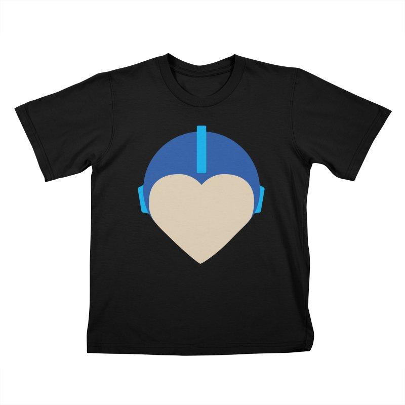 I Heart Megaman Kids T-Shirt by andrewkaiser's Artist Shop