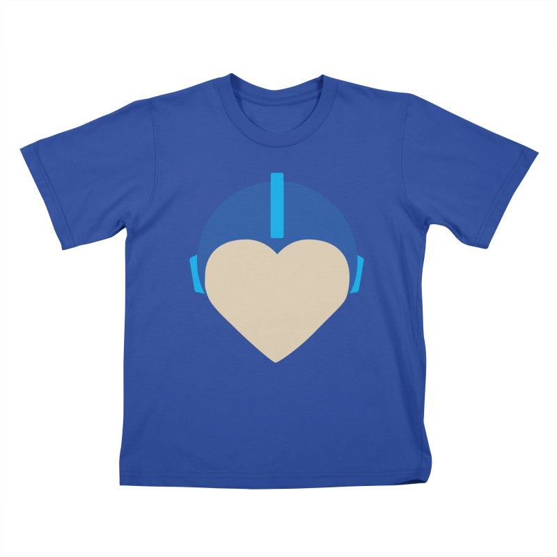 I Heart Megaman Kids T-Shirt by andrewkaiser's Artist Shop