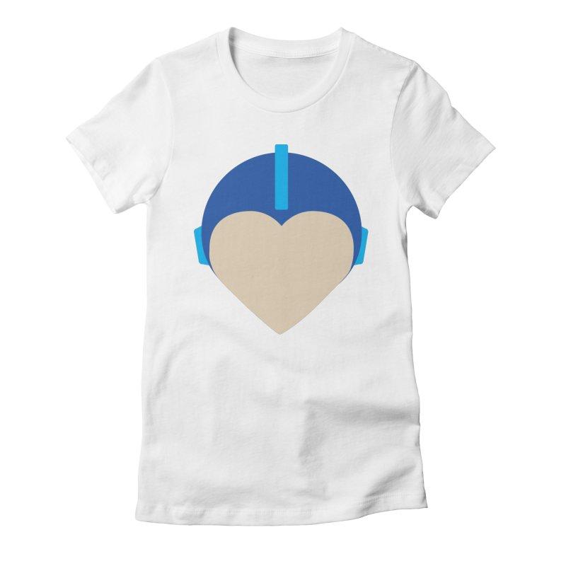 I Heart Megaman Women's Fitted T-Shirt by andrewkaiser's Artist Shop
