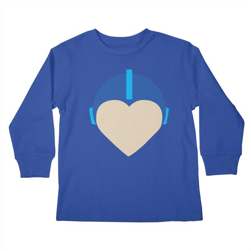 I Heart Megaman Kids Longsleeve T-Shirt by andrewkaiser's Artist Shop