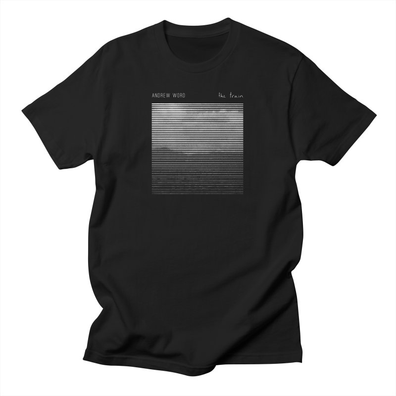 """The Train"" Shirt in Men's Regular T-Shirt Black by Andrew Word Merch Shop"
