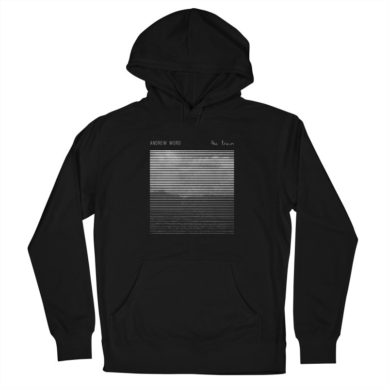 """The Train"" Hoodie in Men's Pullover Hoody Black by Andrew Word Merch Shop"