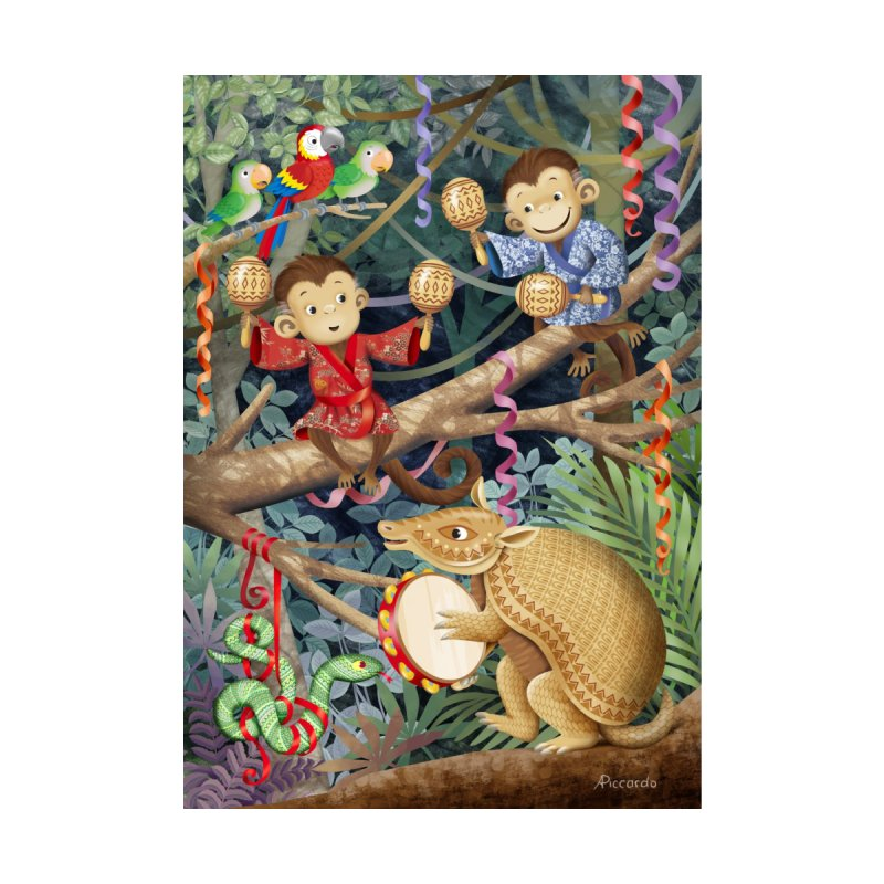 Carnival in the forest None  by andrula's Artist Shop