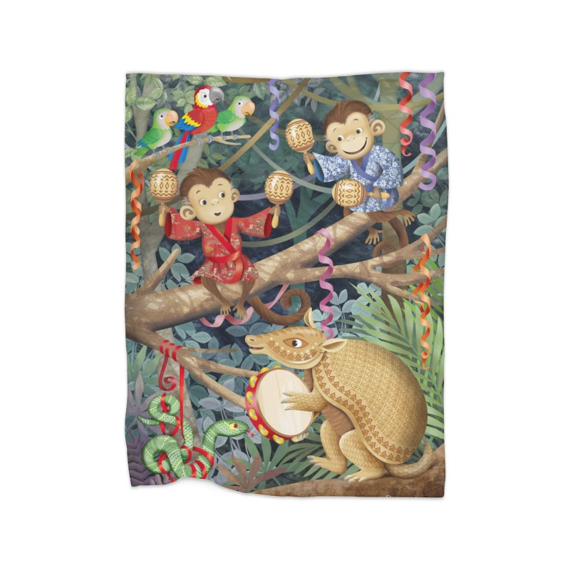 Carnival in the forest Home Blanket by andrula's Artist Shop