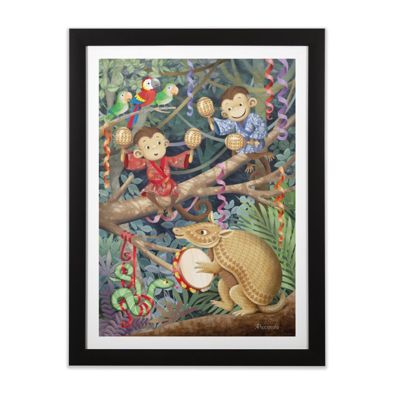 Carnival in the forest Home Framed Fine Art Print by andrula's Artist Shop