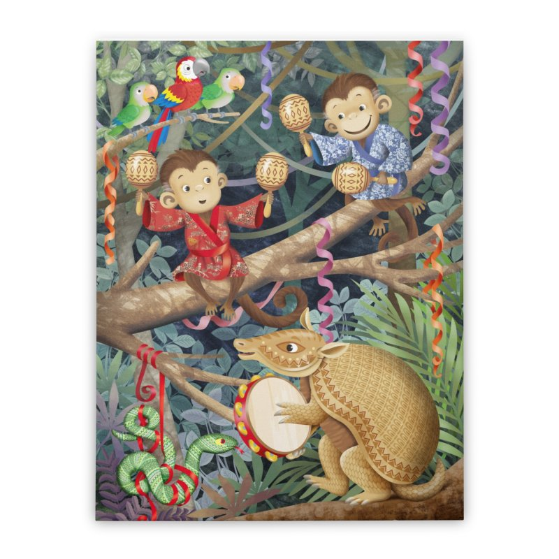 Carnival in the forest Home Stretched Canvas by andrula's Artist Shop