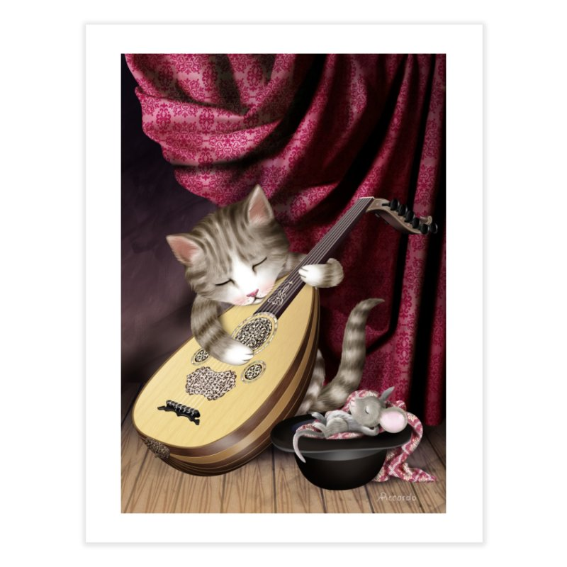 Cat and Mouse Home Fine Art Print by andrula's Artist Shop