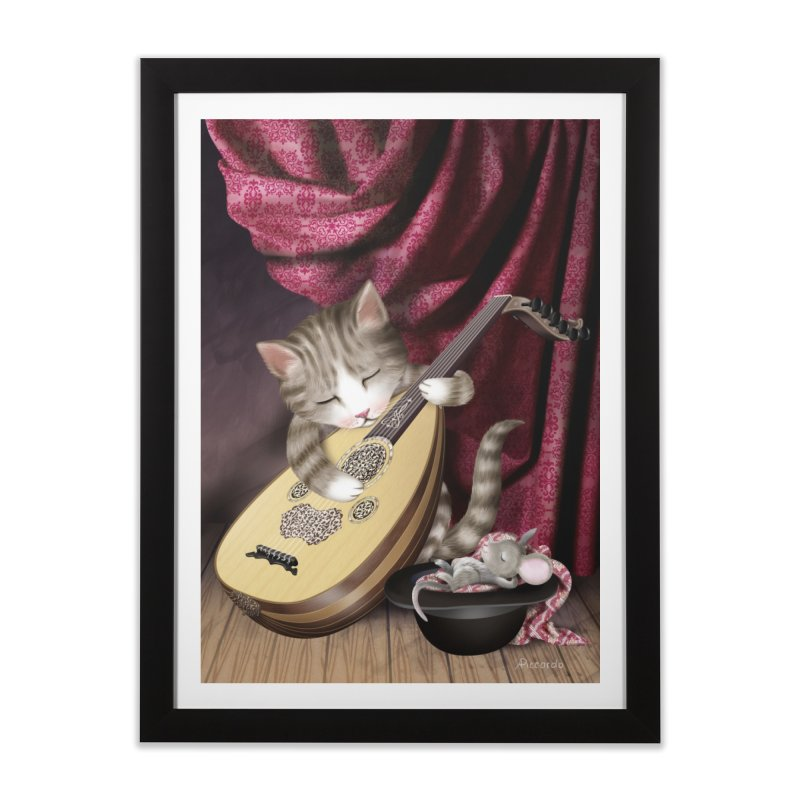 Cat and Mouse Home Framed Fine Art Print by andrula's Artist Shop