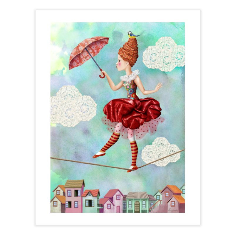 Equilibrist Home Fine Art Print by andrula's Artist Shop