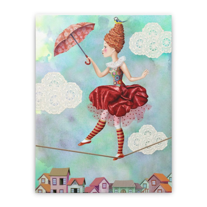 Equilibrist Home Stretched Canvas by andrula's Artist Shop