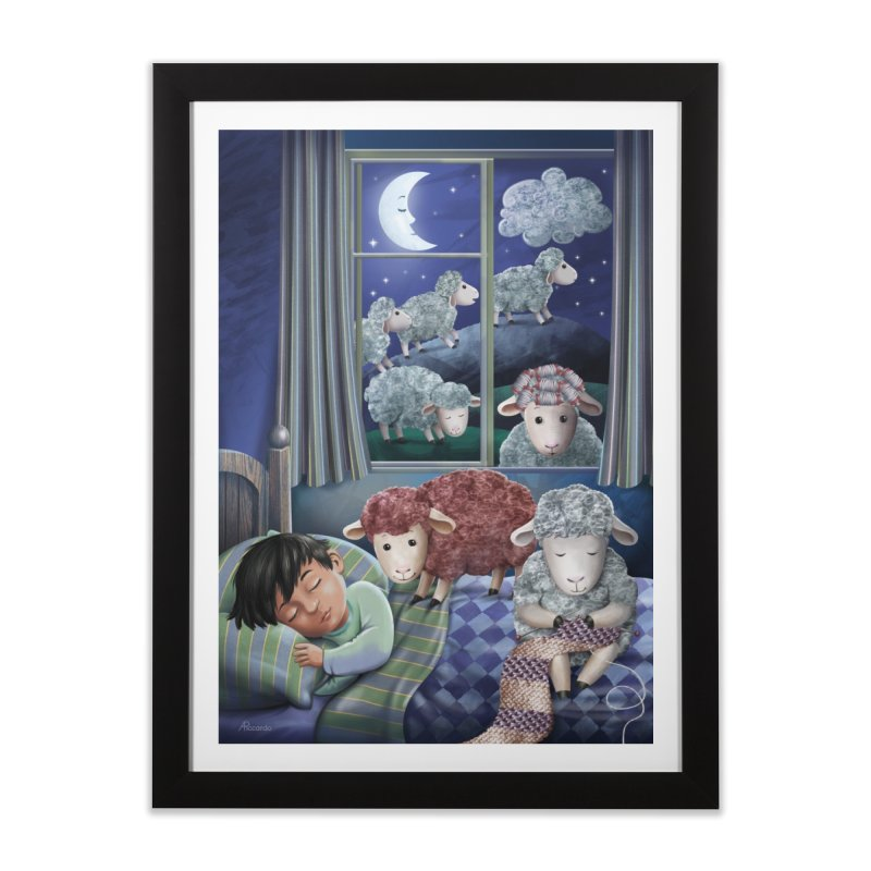Counting sheeps Home Framed Fine Art Print by andrula's Artist Shop