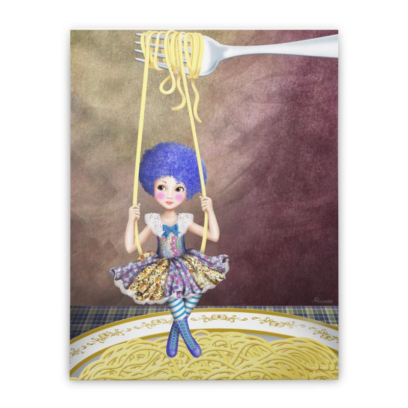 Spaghetti swing Home Stretched Canvas by andrula's Artist Shop