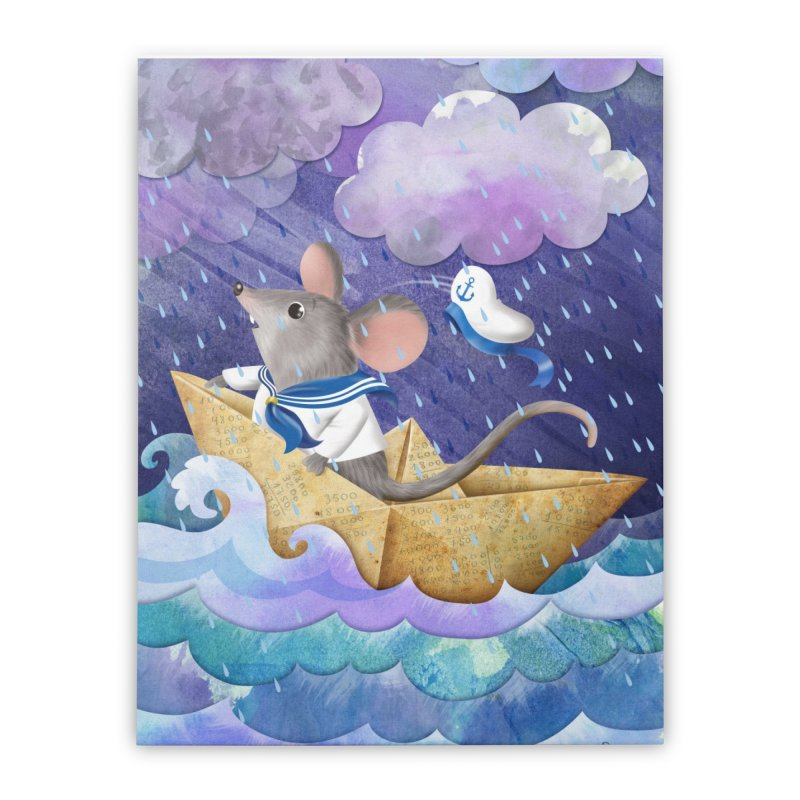 Antón Pirulero, the adventurous mouse Home Stretched Canvas by andrula's Artist Shop
