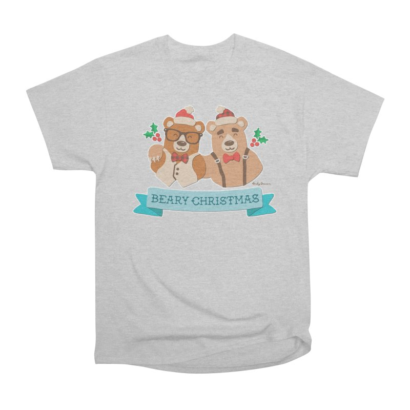 BEARy Christmas Men's Heavyweight T-Shirt by Andy Bauer's Shop