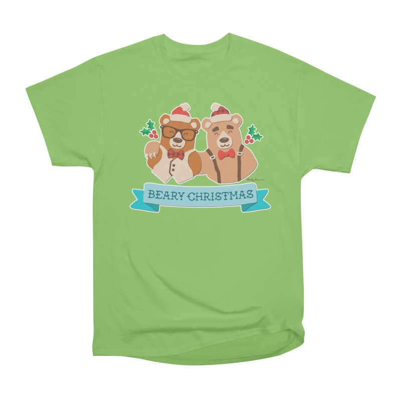 BEARy Christmas Women's Heavyweight Unisex T-Shirt by Andy Bauer's Shop