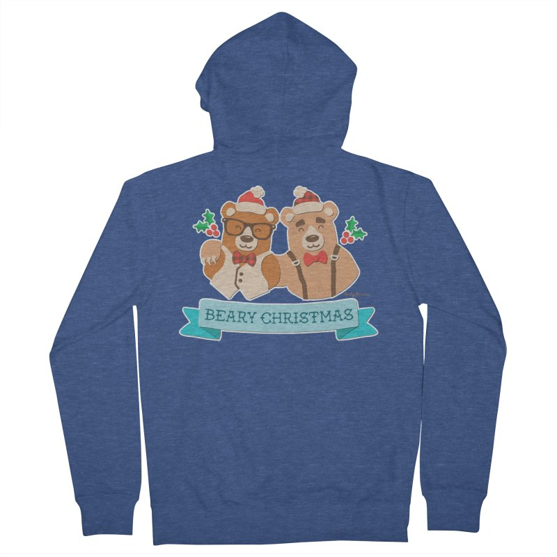 BEARy Christmas Women's French Terry Zip-Up Hoody by Andy Bauer's Shop