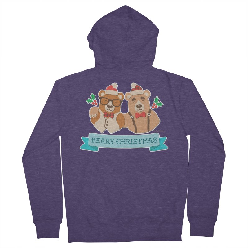 BEARy Christmas Men's Zip-Up Hoody by Andy Bauer's Shop