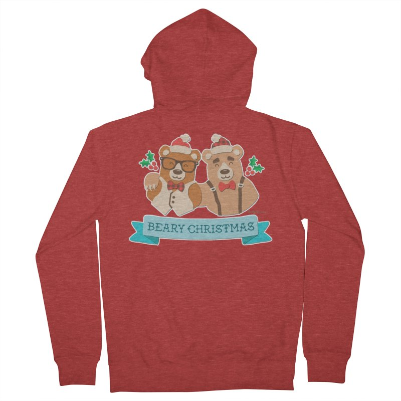 BEARy Christmas Men's French Terry Zip-Up Hoody by Andy Bauer's Shop