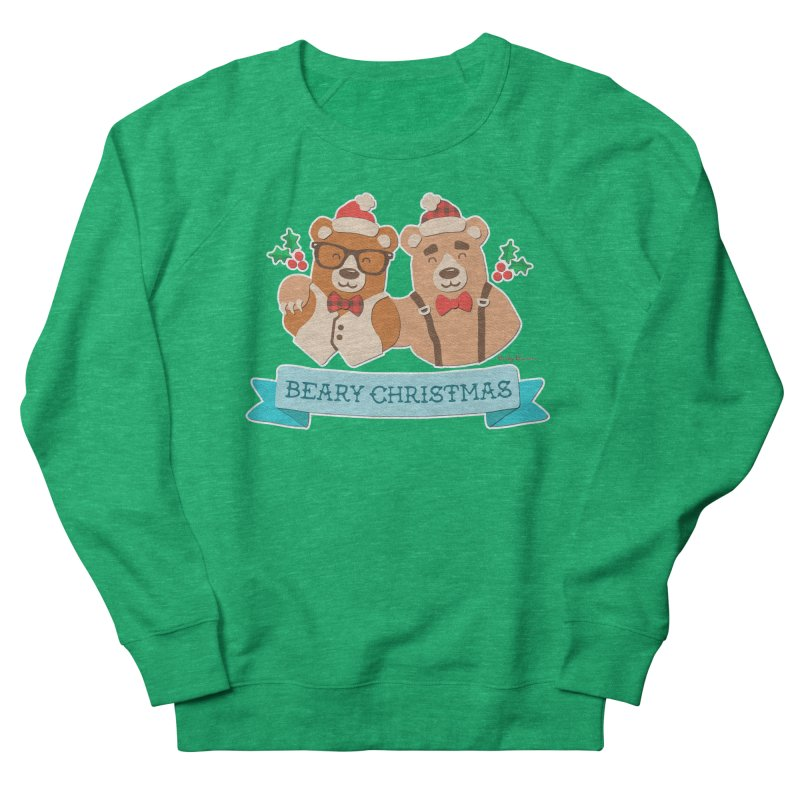 BEARy Christmas Men's French Terry Sweatshirt by Andy Bauer's Shop