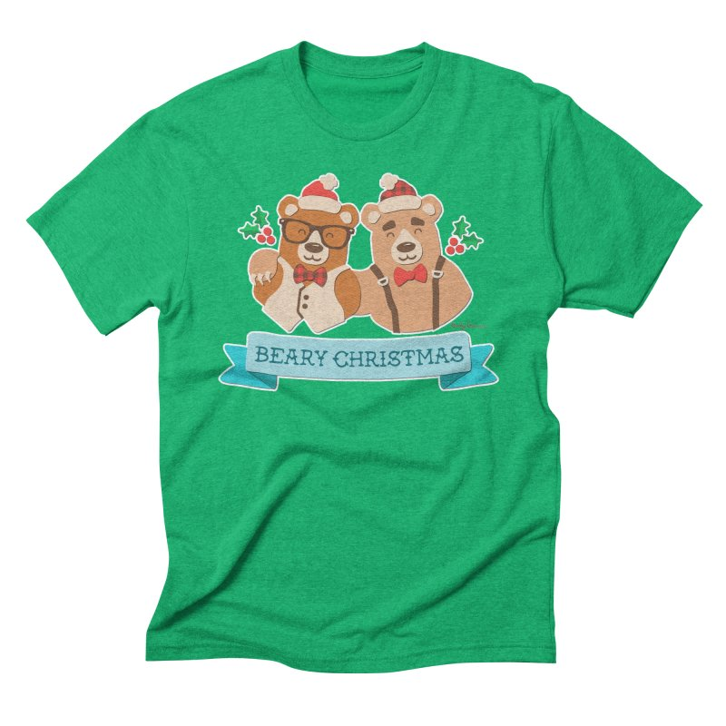 BEARy Christmas Men's Triblend T-Shirt by Andy Bauer's Shop