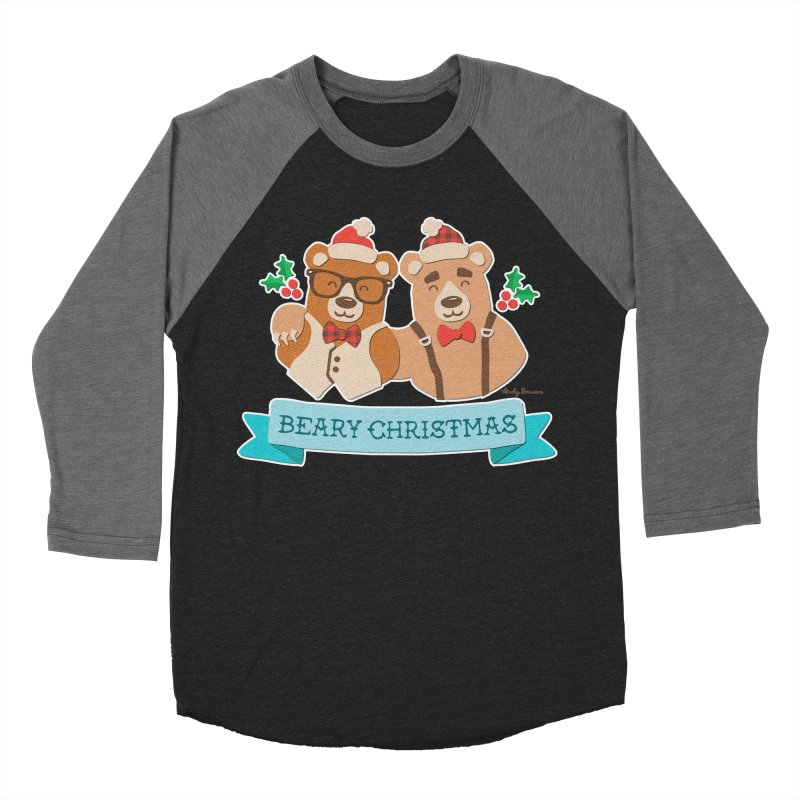 BEARy Christmas Women's Baseball Triblend T-Shirt by Andy Bauer's Shop