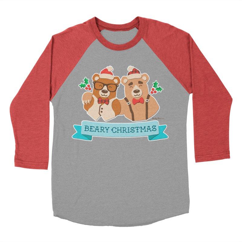 BEARy Christmas Men's Baseball Triblend Longsleeve T-Shirt by Andy Bauer's Shop